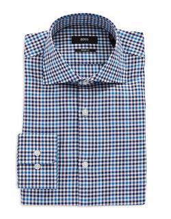 Hugo Boss  - Miles Sharp Fit Checkered Dress Shirt