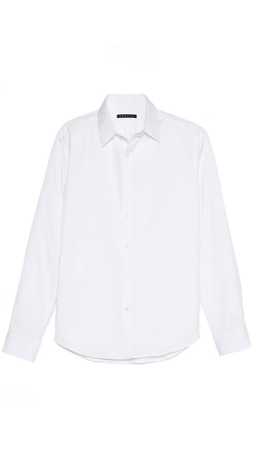 Slyvain Solid Dress Shirt by Theory in The Disappearance of Eleanor Rigby